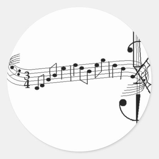 Vals del violoncelo pegatina redonda