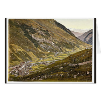 Vals, Grisons, Switzerland classic Photochrom Greeting Card