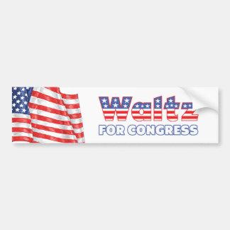 Vals para la bandera americana patriótica del cong pegatina para auto