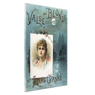 Valse des Blondes Canvas Print