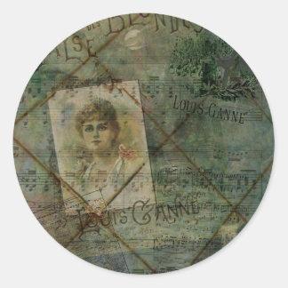 Valse des Blondes Classic Round Sticker