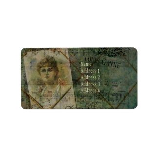 Valse des Blondes Address Label
