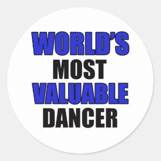 valuable dancer classic round sticker