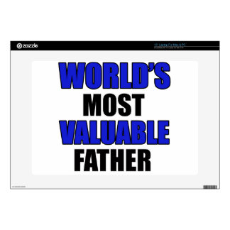 """valuable father 15"""" laptop decals"""