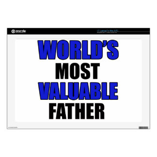valuable father laptop skin