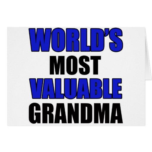 valuable grandma design greeting card