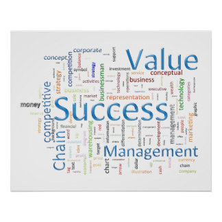 Value And Success Related Text Poster