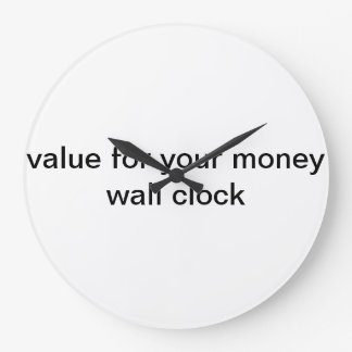 value for your money wall clock