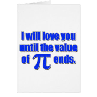 Value of Pi Love Card