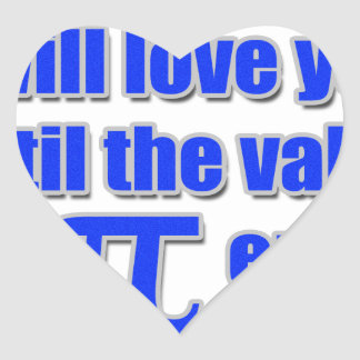 Value of Pi Love Heart Stickers