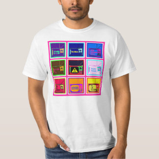 Value T-Shirt, White, Anti TV Design T-Shirt