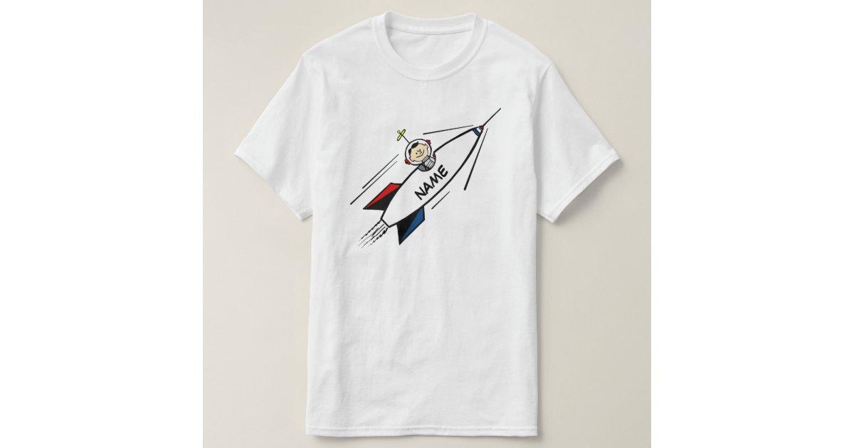 Value tshirt rocket man cartoon name template t shirt for Zazzle t shirt template