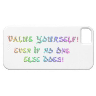 Value Yourself cell case. iPhone 5 Cases