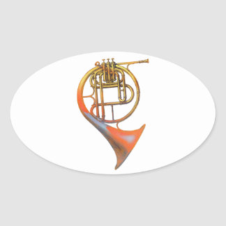 Valve Horn Oval Sticker