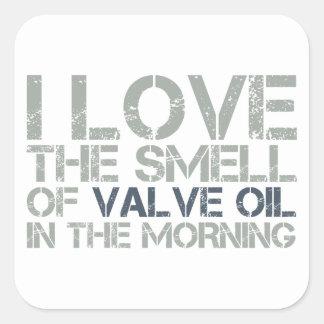 Valve Oil Square Sticker