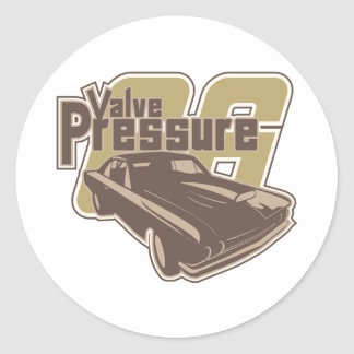 Valve Pressure Classic Round Sticker