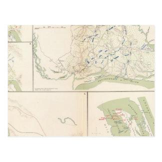 Valverde, Shiloh, Ft Craig, Roanoke Island Postcard