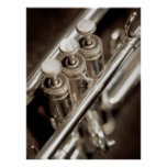 válvulas de la trompeta poster