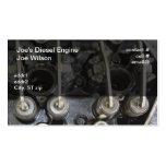 Válvulas del motor diesel plantillas de tarjeta de negocio