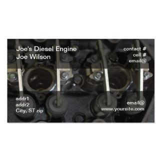 Válvulas del motor diesel tarjetas de visita
