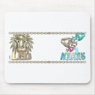 Valx Art Leo Aquarius zodiac friendship gifts Mouse Pad