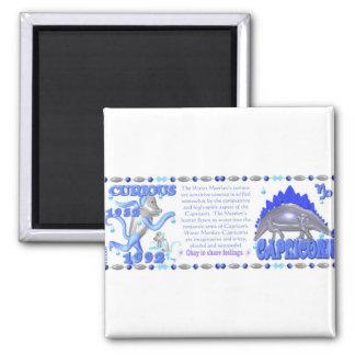 ValxArt 1932 zodiac water monkey born Capricorn 2 Inch Square Magnet