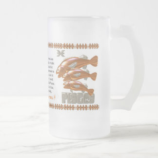 ValxArt 1941 2001 zodiac metal snake born Pisces Frosted Glass Beer Mug
