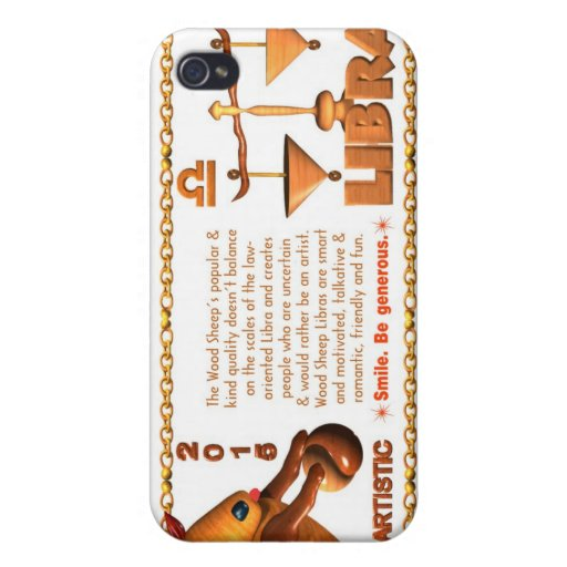 Valxart 1955 2015 2075 libras del zodiaco de WoodS iPhone 4/4S Funda