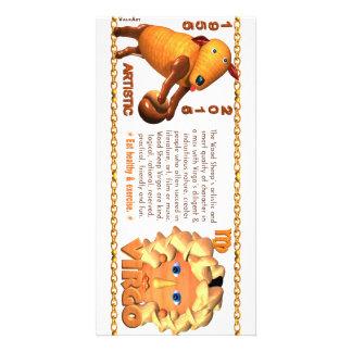 Valxart 1955 2015 2075 virgos del zodiaco de WoodS Tarjetas Fotograficas