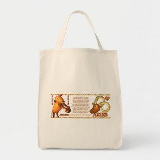 Valxart 1955 2015 2075 WoodSheep zodiac Aries Grocery Tote Bag