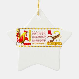 Valxart 1957 2017 2077 escorpiones del zodiaco de ornamento de navidad