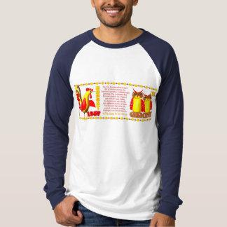 Valxart 1957 2017 2077 FireRooster zodiac Gemini T-Shirt