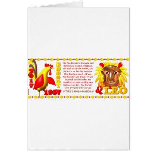 Valxart 1957 2017 2077 FireRooster zodiac Leo Card