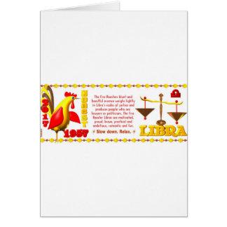 Valxart 1957 2017 2077 FireRooster zodiac Libra Card