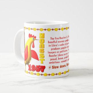 Valxart 1957 2017 2077 FireRooster zodiac Libra Large Coffee Mug