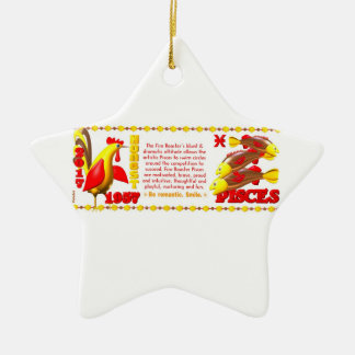 Valxart 1957 2017 2077 zodiacos Piscis de FireRoos Ornamento De Navidad