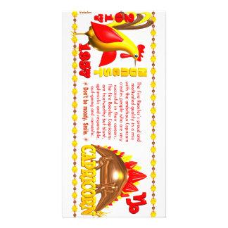 Valxart 1957 2017 Capricornios del zodiaco de Fire Tarjeta Personal