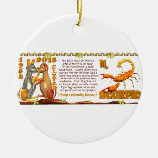 Valxart 1958 2018 2078 EarthDog zodiac Scorpio Ceramic Ornament
