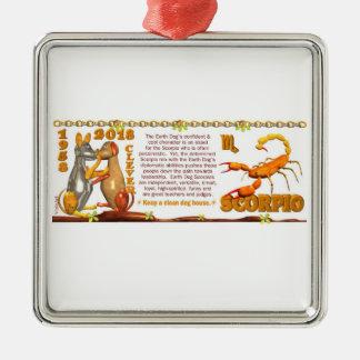 Valxart 1958 2018 2078 EarthDog zodiac Scorpio Metal Ornament