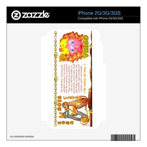 Valxart 1958 2018 2078 virgos del zodiaco de Earth iPhone 3GS Calcomanías