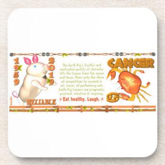 Valxart 1959 2019 2079 EarthPig zodiac Cancer Coaster