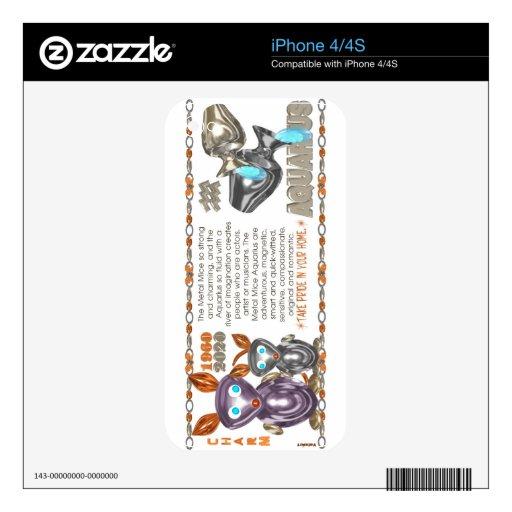 Valxart 1960 2020 acuarios del zodiaco de MetalRat Calcomanías Para El iPhone 4S