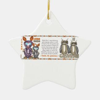 Valxart 1960 2020 géminis del zodiaco de MetalRat Ornamentos De Reyes Magos