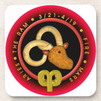 Valxart 1961 2021 MetalBull zodiac Aries Drink Coaster