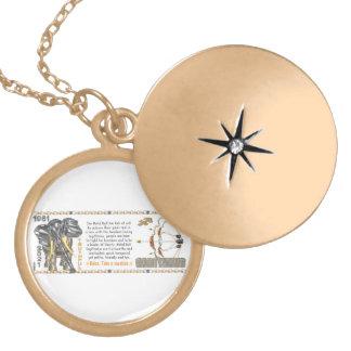 Valxart 1961 2021 MetalBull zodiac Sagittarius Round Locket Necklace