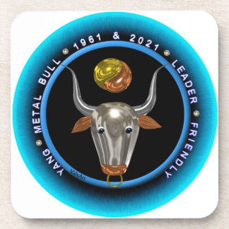 Valxart 1961 2021 MetalBull zodiac Virgo Drink Coaster