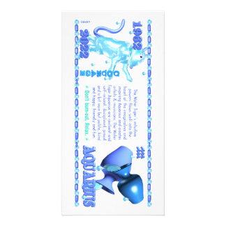Valxart 1962 2022 WaterTiger  zodiac Aquarius Photo Card Template