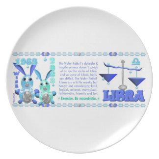 Valxart 1963 2023 libras del zodiaco de plato de cena