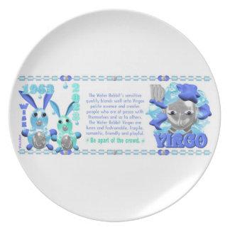 Valxart 1963 2023 virgos del zodiaco de platos para fiestas