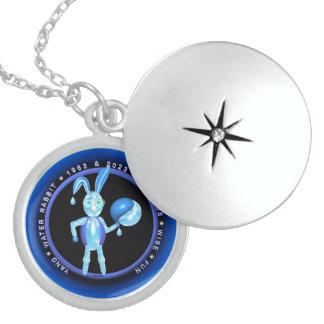 Valxart 1963 2023 WaterRabbit zodiac Aquarius Round Locket Necklace